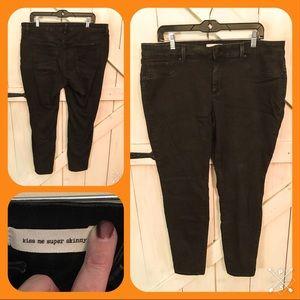 Size 18w Jessica Simpson Black Skinny Jean